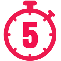 Pink five minute timer