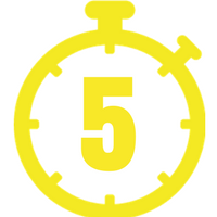 Yellow five minute timer