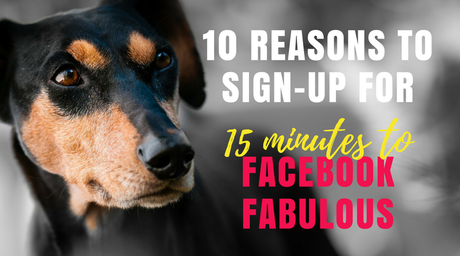 10 reasons to sign up for 15 minutes to facebook fabulous