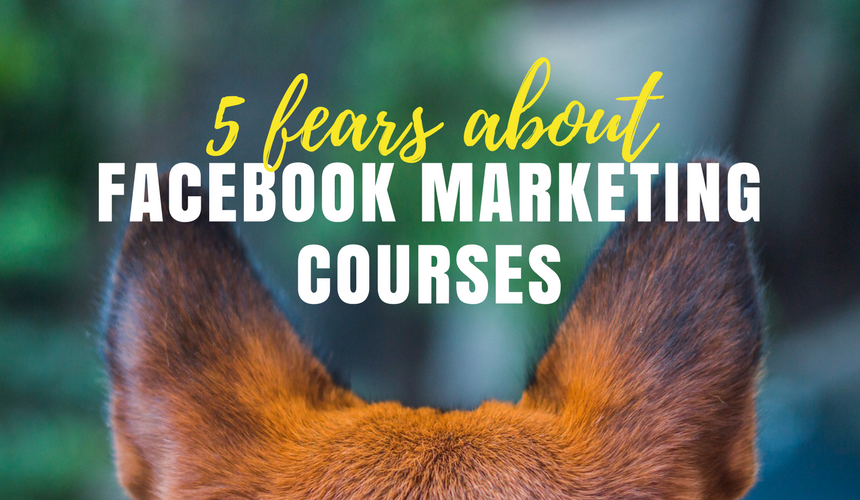 Five fears about Facebook marketing courses