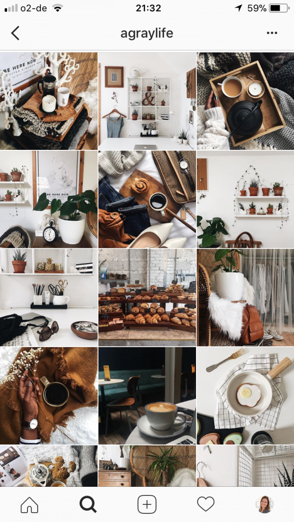 Instagram for Beginners - examples of a great instagram grid