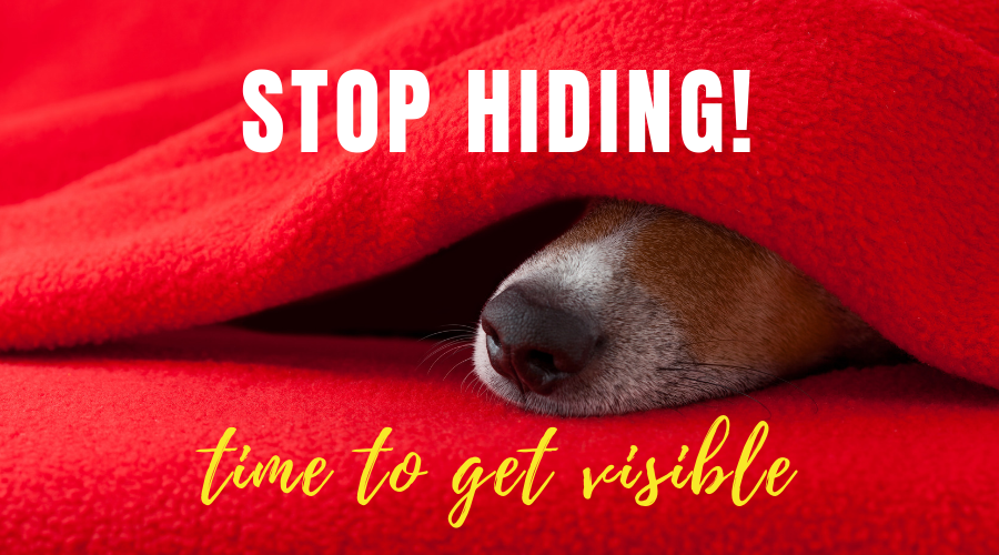 Stop Hiding - Time to Get Visible