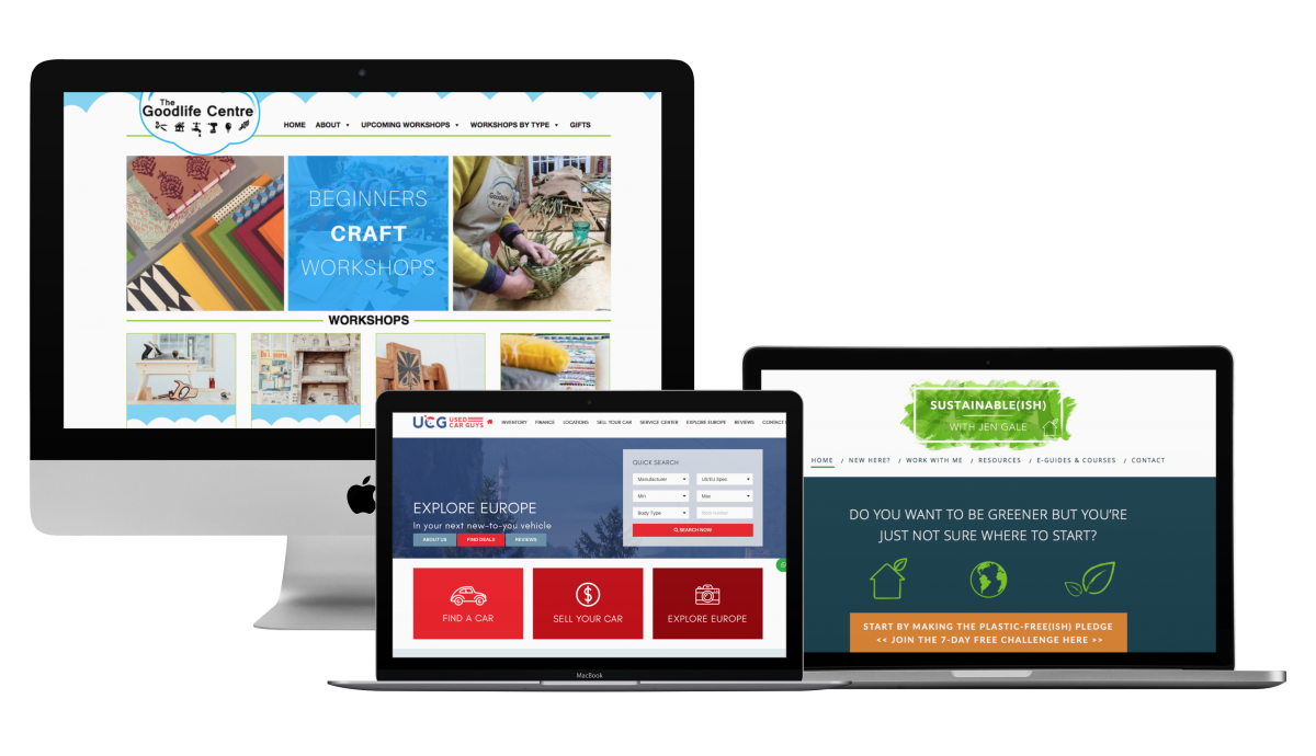 Customer and bespoke Websites for small businesses